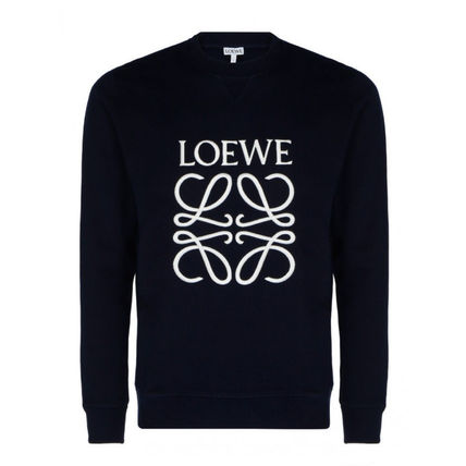 LOEWE Sweatshirts Crew Neck Sweat Long Sleeves Cotton Logo Luxury Sweatshirts 2