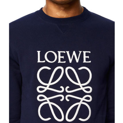 LOEWE Sweatshirts Crew Neck Sweat Long Sleeves Cotton Logo Luxury Sweatshirts 5