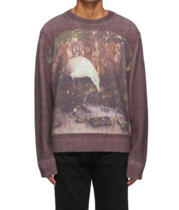 Crew Neck Pullovers Long Sleeves Sweaters