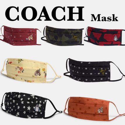 Coach Flower Patterns Star Camouflage Face Masks