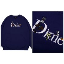 Dime Sweatshirts Crew Neck Pullovers Unisex Street Style Long Sleeves Plain 4