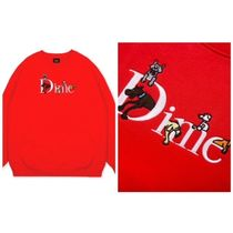 Dime Sweatshirts Crew Neck Pullovers Unisex Street Style Long Sleeves Plain 5