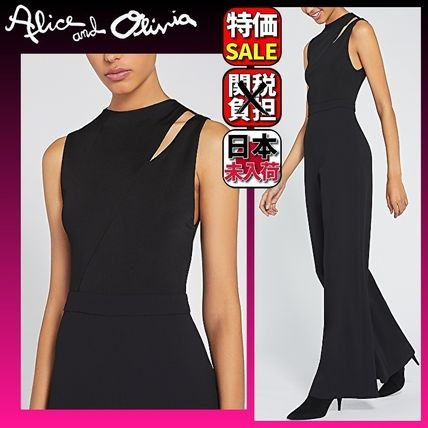 Casual Style Sleeveless Plain Party Style High-Neck