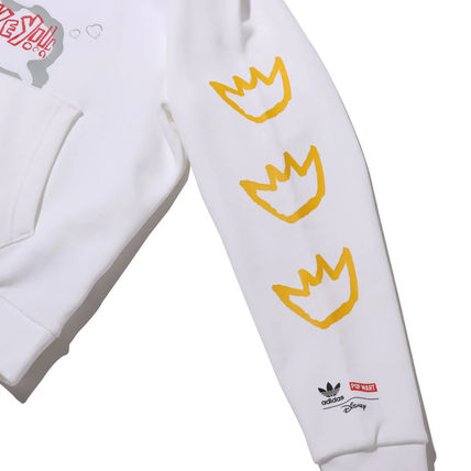 adidas Hoodies Unisex Street Style Collaboration Long Sleeves Plain Cotton 9
