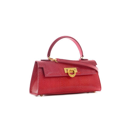 Casual Style Calfskin Plain Other Animal Patterns Leather