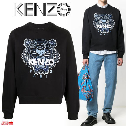 KENZO Sweatshirts Pullovers Long Sleeves Cotton Logo Designers Sweatshirts