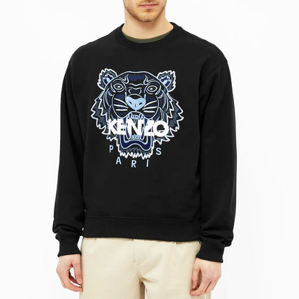 KENZO Sweatshirts Pullovers Long Sleeves Cotton Logo Designers Sweatshirts 3