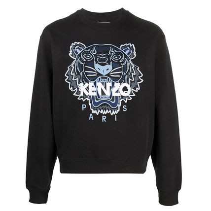 KENZO Sweatshirts Pullovers Long Sleeves Cotton Logo Designers Sweatshirts 6