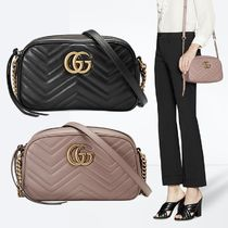 GUCCI GG Marmont 2WAY Chain Leather Elegant Style Shoulder Bags