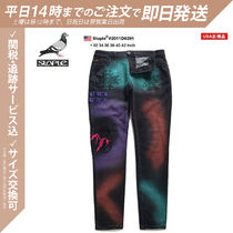 Staple Tapered Pants Printed Pants Flower Patterns Star Dots Unisex