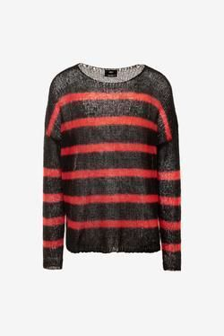Crew Neck Pullovers Stripes Long Sleeves Sweaters