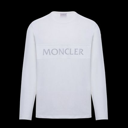 MONCLER Long Sleeve Crew Neck Long Sleeves Plain Cotton Logos on the Sleeves 2