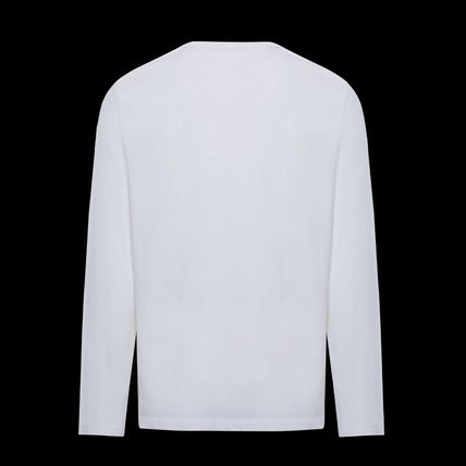 MONCLER Long Sleeve Crew Neck Long Sleeves Plain Cotton Logos on the Sleeves 3