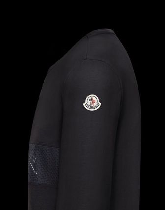 MONCLER Long Sleeve Crew Neck Long Sleeves Plain Cotton Logos on the Sleeves 7