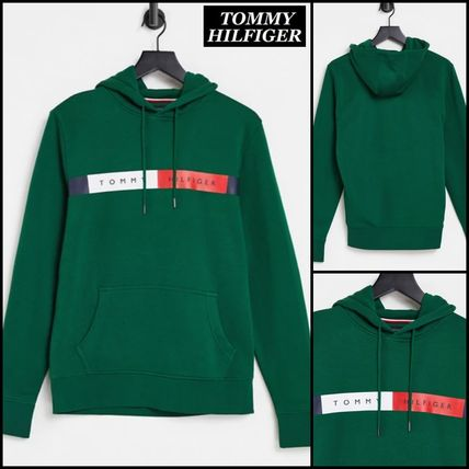 Tommy Hilfiger Hoodies Pullovers Street Style Long Sleeves Cotton Logo Hoodies
