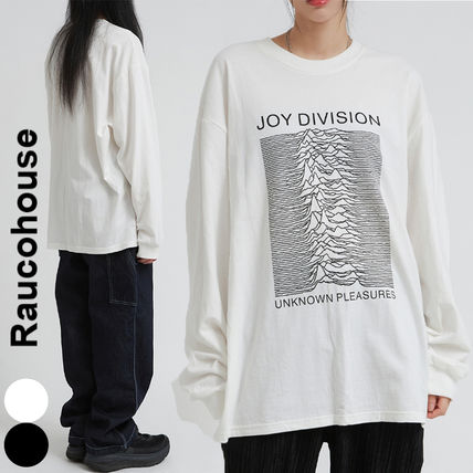 Raucohouse Long Sleeve Unisex Street Style Collaboration Long Sleeves Cotton