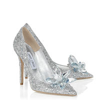 Jimmy Choo Suede Plain Pin Heels Party Style With Jewels Elegant Style