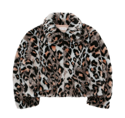 Faux Fur Street Style Other Animal Patterns Outerwear