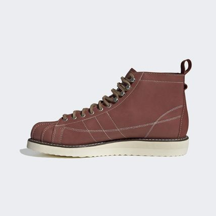 adidas Mountain Boots Plain Leather Logo Outdoor Boots