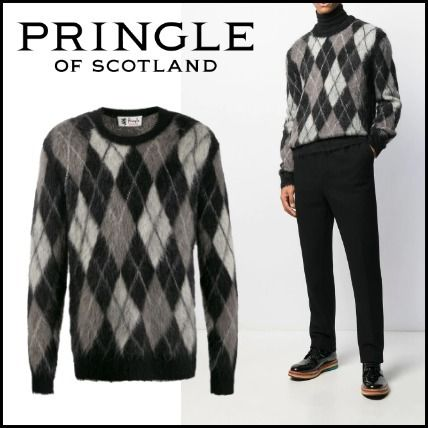 Pringle Of Scotland Sweaters Street Style Long Sleeves Sweaters