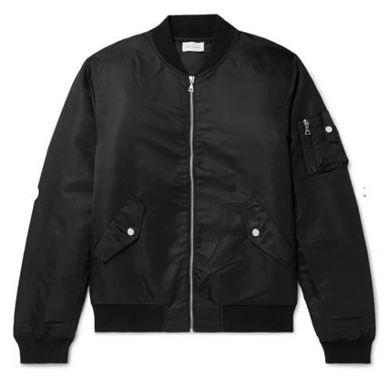 Nylon Plain MA-1 Bomber Jackets