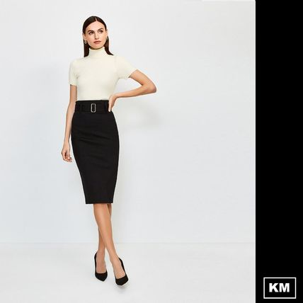 Karen Millen Pencil Skirts Plain Medium Office Style Oversized