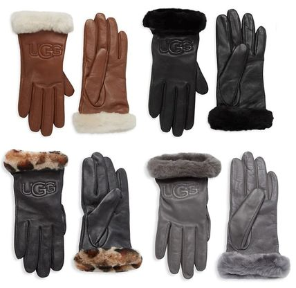 UGG Australia Leather Leather & Faux Leather Gloves
