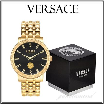 VERSACE Casual Style Round Party Style Quartz Watches Stainless