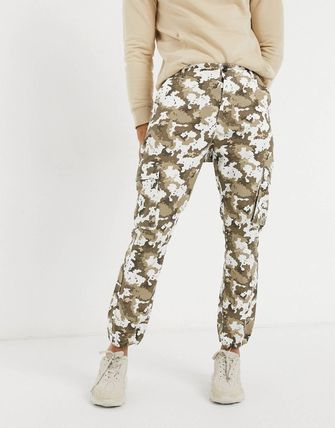 ASOS Tapered Pants Printed Pants Camouflage Street Style Cotton