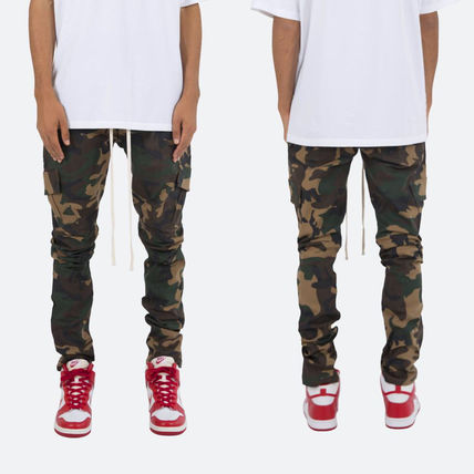 Tapered Pants Camouflage Street Style Plain Cotton