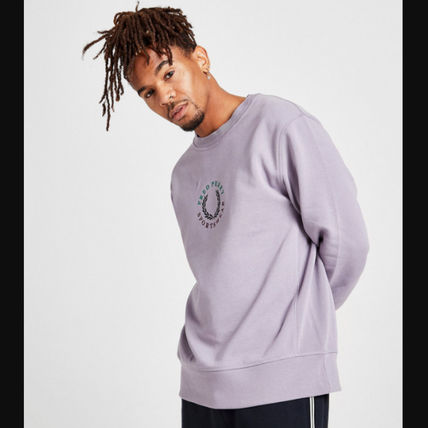 FRED PERRY Sweatshirts Street Style Long Sleeves Cotton Logo Sweatshirts 2