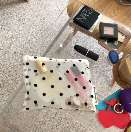 Dots Bi-color Pouches & Cosmetic Bags