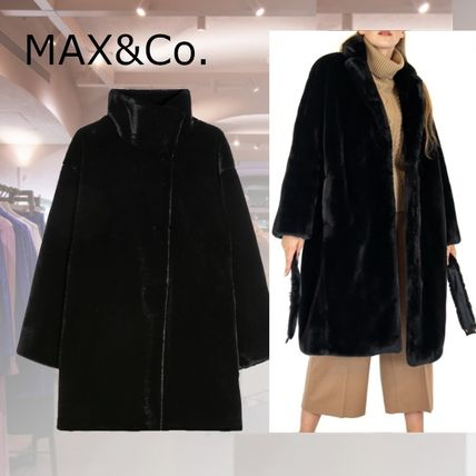 Max&Co. Casual Style Faux Fur Plain Medium Party Style Elegant Style