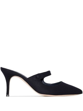 Casual Style Plain Leather Pin Heels Party Style
