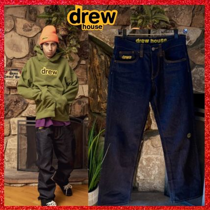 drew house More Jeans Unisex Street Style Cotton Jeans