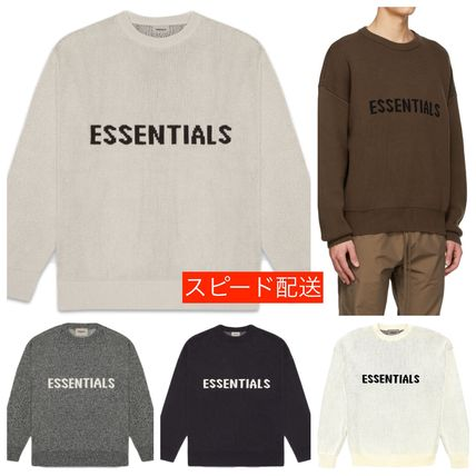 FEAR OF GOD Sweaters Crew Neck Unisex Street Style Collaboration Logo Sweaters