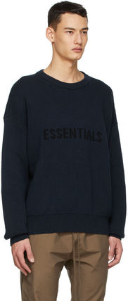 FEAR OF GOD Sweaters Crew Neck Unisex Street Style Collaboration Logo Sweaters 6