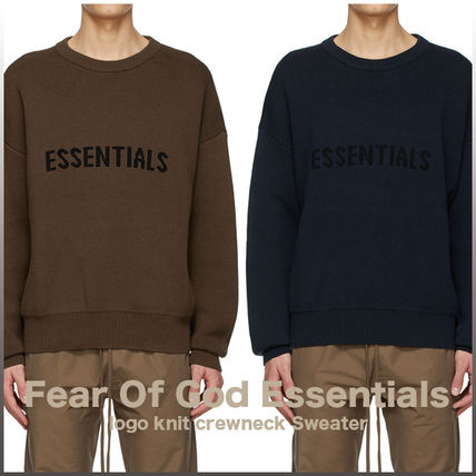 FEAR OF GOD Sweaters Crew Neck Unisex Street Style Collaboration Logo Sweaters 12