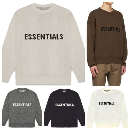 FEAR OF GOD Sweaters Crew Neck Unisex Street Style Collaboration Logo Sweaters 13