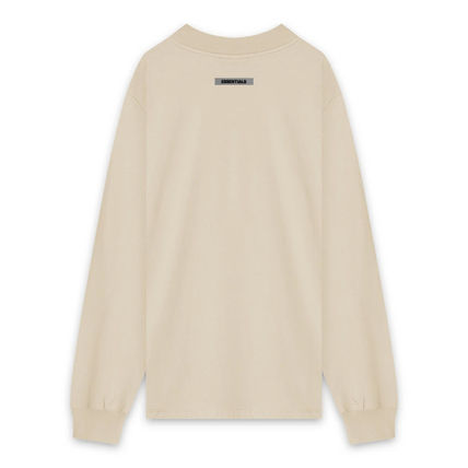 FEAR OF GOD ESSENTIALS Crew Neck Unisex Street Style Long Sleeves Cotton