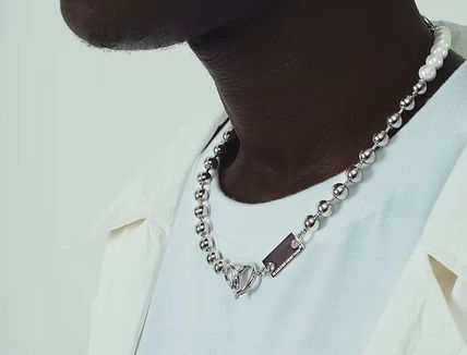 IN GOLD WE TRUST PARIS Necklaces & Chokers Unisex Blended Fabrics Street Style Chain 3