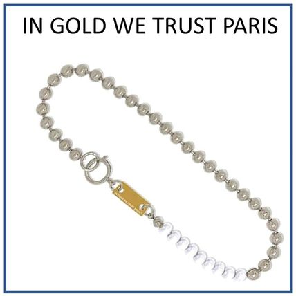 IN GOLD WE TRUST PARIS Necklaces & Chokers Unisex Blended Fabrics Street Style Chain