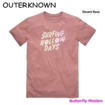 Outer known Crew Neck Street Style Plain Cotton Short Sleeves Surf Style