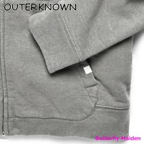 Outer known Hoodies Unisex Street Style Long Sleeves Plain Cotton Logo 5