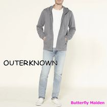 Outer known Hoodies Unisex Street Style Long Sleeves Plain Cotton Logo 6