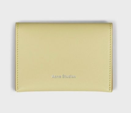 Unisex Leather Folding Wallet Logo Card Holders