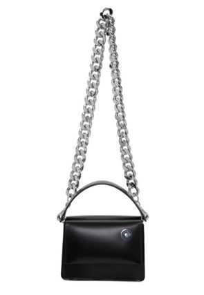 Casual Style 2WAY Chain Plain Leather Crossbody Logo