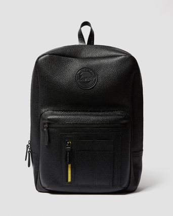 Dr Martens Backpacks Casual Style Street Style A4 Plain Leather Office Style