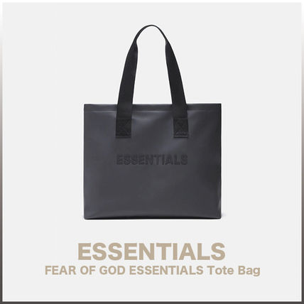 FEAR OF GOD ESSENTIALS Unisex Street Style Collaboration Plain Logo Totes