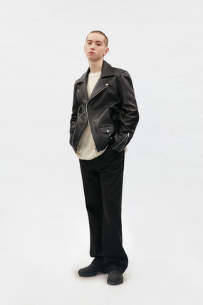 vivastudio Unisex Street Style Leather Biker Jackets